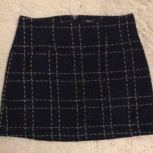 Gold Navy Plaid skirt